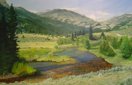 Painting from the Cheyenne Artists Guild