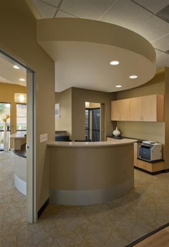 Check out area in Granite Springs Dentistry (Michael Peck Photography)