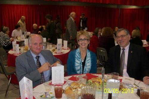 :  Mark and Carol Fikes and Ray Baggett at Benton Chamber Winter Banquet, February 2013)