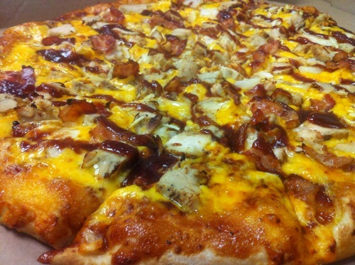 Spanky's BBQ Chicken Pizza