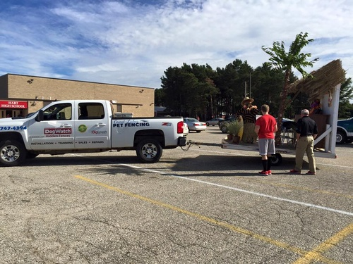 Helping out with the Hart High School Homecoming Float