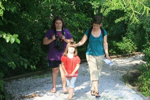 Youth can borrow a backpack to explore nature trail