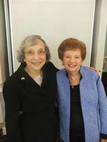 Auxiliary President Rhoda Seifert with former Auxiliary President Shirley Basch.