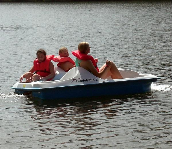 Water recreation includes paddle boats