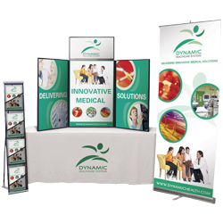 Table Cloths, Banners & Displays! We can help with all your trade show needs!