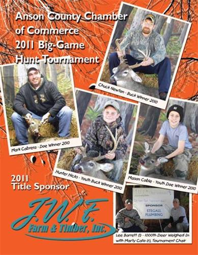 Anson County Chamber Hunt Tournamnet Book