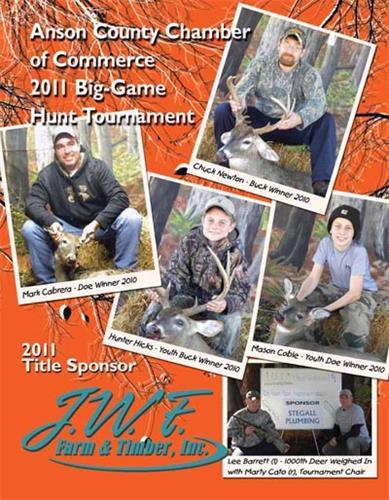 Anson County Chamber Hunt Tournamnet Book