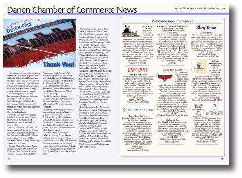 Chamber of Commerce Section Sample