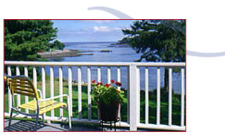 View of the harbor channel from the Maine House