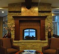 Fireplace in the lobby