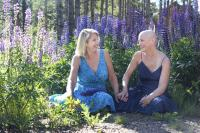Sisters Debbie and Barb venture to Breckenridge to celebrate Debbie's 10 year annivesary of being cancer free.