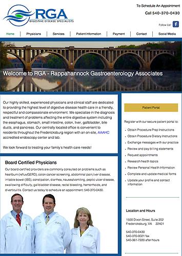 Rappahannock Gastroenterology Associates - Website Design & Social Media