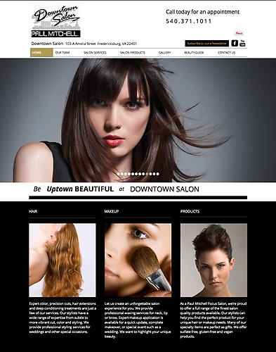Downtown Salon - Website Design & Tagline