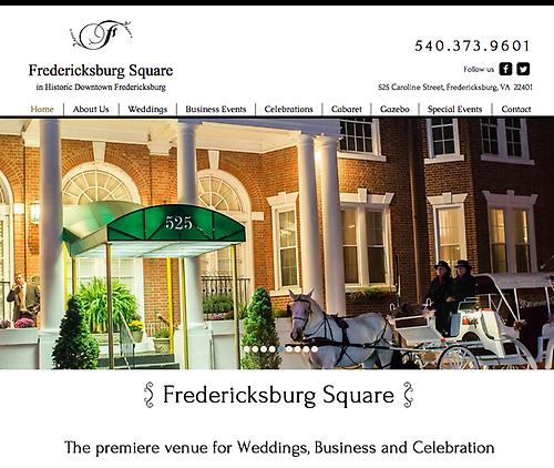 Fredericksburg Square - Website Design & Social Media