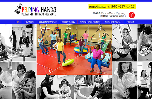 Helping Hands Occupational Therapy - Website Design & Tagline