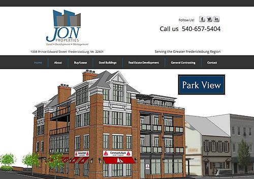 JON Properties - Website Design & Social Media