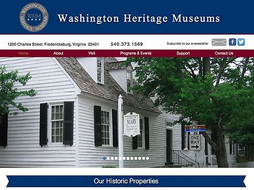 Washington Heritage Museums - Website Design