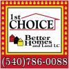1st Choice Better Homes & Land, LLC