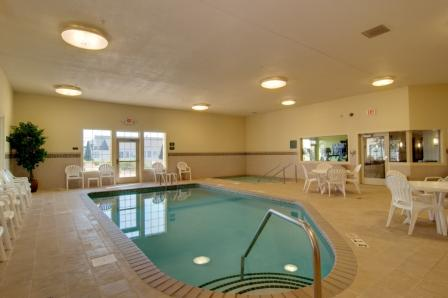 Have some fun and enjoy our indoor pool and whirlpool.