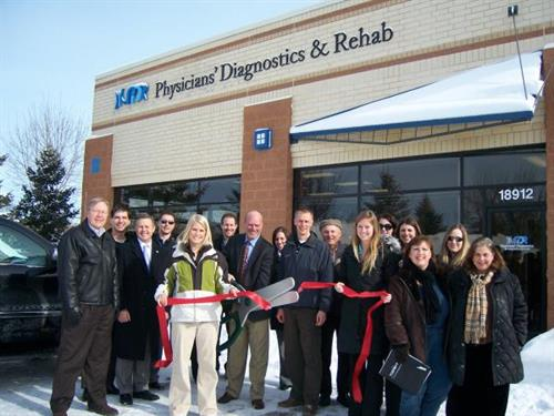 Physicians, Diagnostics & Rehab Ribbon Cutting