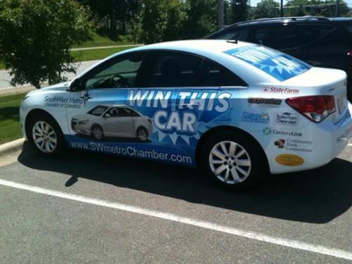 Chamber raffle car.  Drawing on September 12th