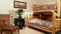 Amish Cedar Log Bunk Bed with Twin on top and Full on bottom