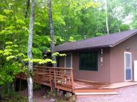 Front of cabin - large wrap around deck