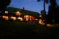 Siskiwit Bay Lodge at dusk