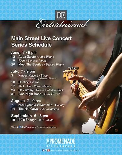 FREE Summer Concert Series at The Promenade Bolingbrook