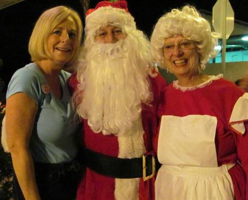 Mr and Mrs Santa Claus visit Punta Gorda every year for the tree lighting