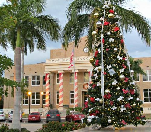 Downtown Merchants Christmas Tree in Hector House Plaza