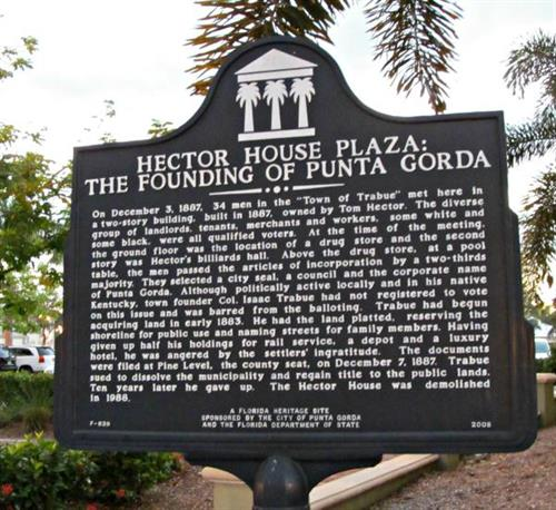 Hector House played an important role in the Punta Gorda's History