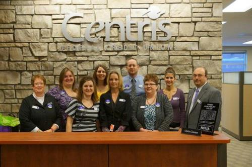 Centris Federal Credit Union staff at new location