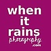 When It Rains Photography