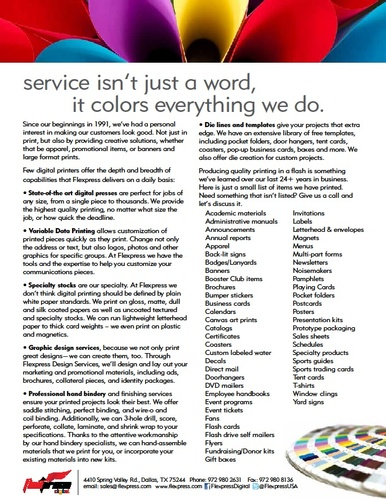 Service Isn't Just a Word