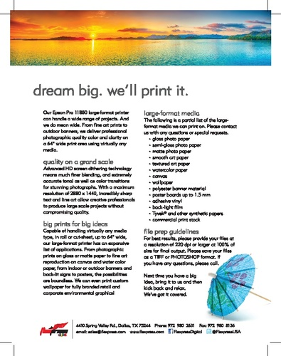 Dream Big - We'll Print It