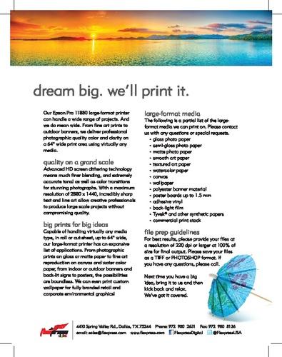 Dream Big - We'll Print It