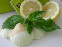 White Chocolate Lemon Basil Coquilles