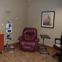 IV/Chemo therapy treatment room