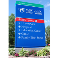Mayo Clinic Health System sign