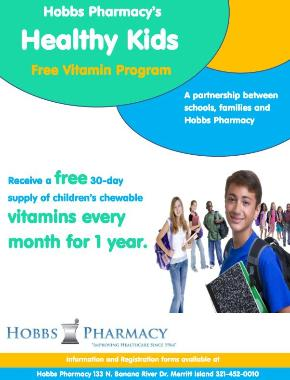 Call us for more information on our FREE children's vitamin program!