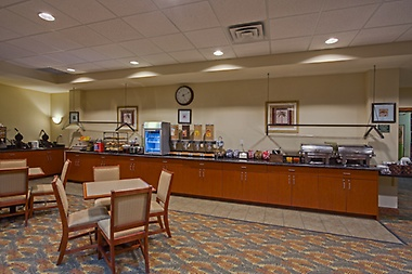 Enjoy a complimentary full buffet breakfast!