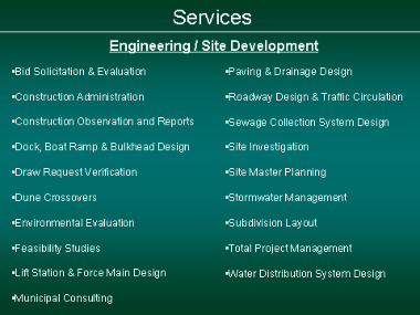 Engineering Services - Land Development