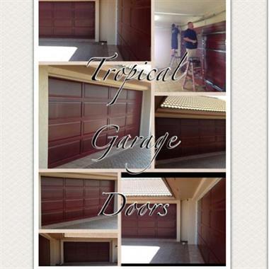 Tropical garage doors doors design garage doors home for Garage door repair merritt island fl