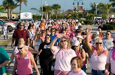 Pink Ribbon Walk at Port Canaveral