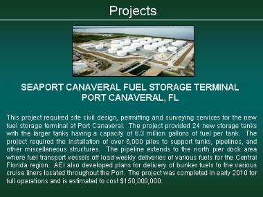 Seaport Canaveral Fuel Storage Tank Farm - Port Canaveral, FL