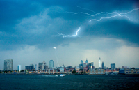 New Jersey View Of Philadelphia Skyline