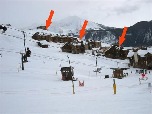 Ski-in/Ski-out access, right next to the West Wall lift.