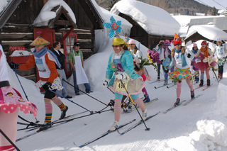 Locals don costumes and join in the fun of the annual Alley Loop Nordic Marathon.
