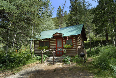 Red Fox (2 bed cabin) exterior summer